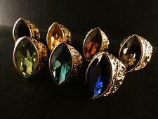 24 Karat Vergoldet Großer Prunk Damenring Fingerring Schmuckmetall Barock Stil