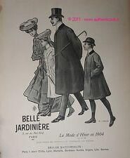 Publicite Originale de 1904 BELLE JARDINIERE MODE HIVER VETEMENT FAMILLE PUB AD