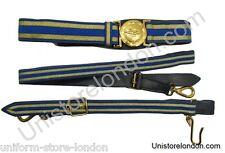 RAF Sword Belt RAF Belt 2 Gold Stripes With  Long & Short Slings R172