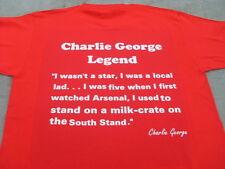 Charlie George & 1971 Arsenal Double Team T-shirt Inc 4XL & 5XL Regalo di Natale