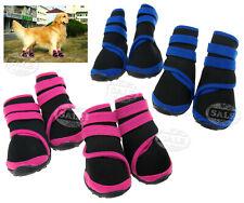 4tlg  S/M/L Rosa/Blau  Haustier HUND Schuhe Pfotenschutz Hundesocken Leckschutz