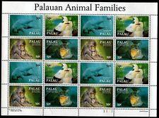 Palau 313, MNH, Fauna Dugong Mesekiu Crocodile Macaque Mascet Booby Bird. x7580