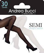 Andrea Bucci 30 Denier Semi - Opaque Slight Sheen Tights 3 Color Choice