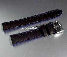 Eulit * EUTec * Waterproof * Uhrenarmband * Schwarz / Blau * 20 - 22 mm