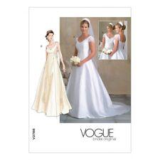 Vogue Ladies Sewing Pattern 2788 Bridal Wedding Dresses (Vogue-2788-M)