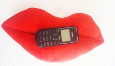 Lèvres Téléphone Oreiller iPhone/iPad Bureau Décor Chambre à Coucher Rouge à lèvres filles Rouge Rose UK