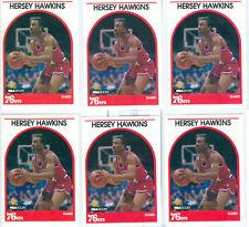 HERSEY HAWKINS 1989-90 HOOPS ROOKIE RC LOT OF 6