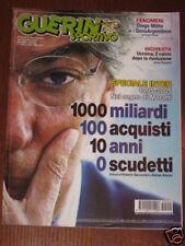 GUERIN SPORTIVO 2005/5 MASSIMO MORATTI INTER MILITO @