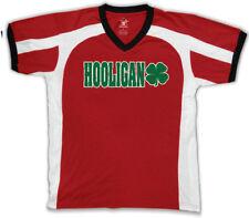 Hooligan Shamrock Irish St Patrick's Day Soccer Drunk Pub Men's V-Neck Sport Tee
