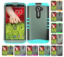 KoolKase Hybrid Silicone Cover Case for LG G2 - Gray (R)