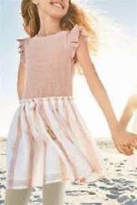 BNWT NEXT Girls Pink Dress & Grey Leggings 2 Piece Set 4-5-6-7-8 Years