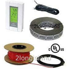 ELECTRIC RADIANT WARM FLOOR TILE HEATING SYSTEM DIGITAL THERMOSTAT, 120V+240V