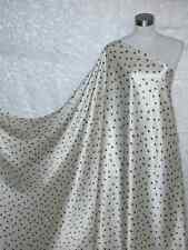 Pure Silk Charmeuse Fabric Ivory Black Bown Per Yard