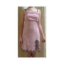 "Argentovivo ""First"" Pink/Black Polkadot Cotton Knee length Nightdress XL"