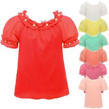 schöne Mädchen Bluse Kunst-Perlen Spitze Kinder Oberteil Sweat T Shirt 22603