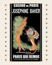 Casino Paris Josephine Baker Leopard Show Theater 16X20 Vintage Poster FREE S/H