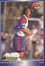 N°084 DELAMONTAGNE LYON LYONNAIS CARTE PANINI FOOTBALL 95 FRANCE CARDS 1995