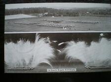 POSTCARD ALDERSHOT TATTOO - 1920'S 1ST GUARDS BRIGADE DRILL DISPLAY OTHER MILITA