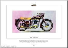Ariel huntmaster-motor cycle Fine Art Imprimé - 650cc twin 1954 moto FH650