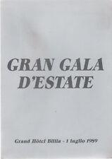 MENU_GRAND HOTEL BILLIA SAINT-VINCENT_GALA D'ESTATE '89