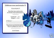 5 o 12 invitaciones de cumpleaños REF 1064