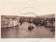 REPRO PHOTO ANCIENNE VERS 1860 MARSEILLE PORT BATEAUX BALDUS PECHEURS MER VOILES