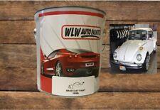 VW AUDI PASTEL WHITE L90D 2K SOLVENT BASECOAT CAR NEAT PAINT MIX SPRAY GUN READY
