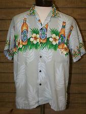 Hawaiian Camp Style Shirt Hibiscus Beer Grape Drum Made in Bali Medium ULUWATU M