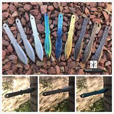 "3PC 6 1/2"" Ninja Kunai Throwers Etched Samurai Warrior Bushido Throwing Knife"