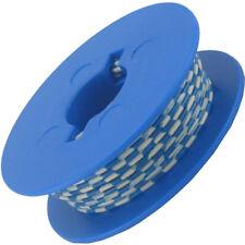 10 Meter Litze 1x0,14 mm² Grundfarbe weiss, Ringdruck 7 Farben deutsche Qualität