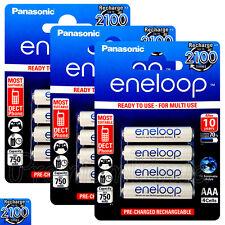 12 x Panasonic Eneloop AAA batteries 750mAh Rechargeable Ni-MH HR03 Phone 4 Pack