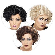 Adult Ladies Deluxe 20s Gatsby Flirty Flapper Short Wig Fancy Dress Accessory