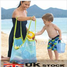 Nueva Bolsa malla arena Niños Niños Juguetes para playa de almacenamiento de red Bolso areneros