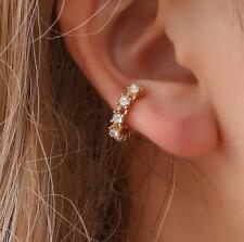 Rhinestone Ear Cuff Hoop Studs Helix Cartilage Septum Fake Piercing Earring HOT