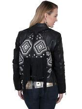 Scully Womens Black Aztec Fringe Backpack B158