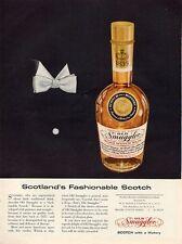 1956 Old Smuggler Vintage Scotch Whisky Bottle  PRINT AD