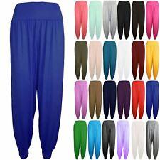 New Womens Harem Baggy Ladies Plain Ali Baba Full Length Leggings Trousers Pants