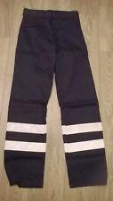 "Mens navy blue hi viz reflective work trousers NEW waist 32"" 34"" 42"" 48"" 50"""