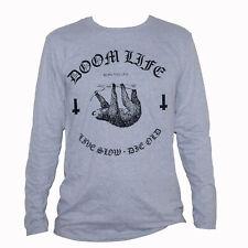 Doom LIfe T shirt- Stoner Metal Kyuss Sleep Electric Wizard Grey Long Sleeve Tee
