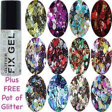 Stargazer - Gel Fix Fixative Body Glue Festival - plus FREE pot Circles Glitter