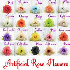 80/150P Fake Small Rose flowers heads 5cm Artificial Silk Flower Bulk for Crafts