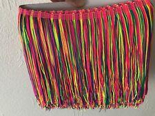 Rainbow Tassel Fringe Nylon Fringing Colourful Multi Colour 19cm and 30cm Drop