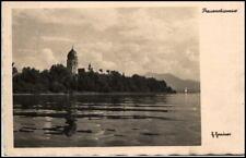 1936 Stempel PRIEN a/ AK Frauenchiemsee See in Bayern alte Postkarte Postcard