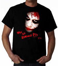T-SHIRT JOKER BATMAN THE DARK KNIGHT WHY SO SERIOUS tshirt fumetto fino tg. 5XL