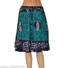 UC-39 Cotton Batik Print Hippi Boho Tie Dyed Colorful Summer Cool Mini Skirts