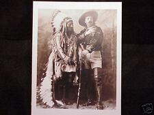 Sitting Bull Buffalo Bill Wild West Show Vintage Photo