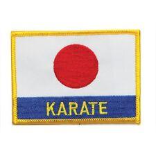 "Karate Japan Flag Martial Arts Patch - 4"" P1166"