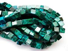 UK cheapest-Chrysocolla square cube 6 8 10mm green blue gemstone beads