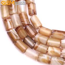 "Natural Column Tube Botswana Agate Stone Beads For Jewelry Making 15"" Wholesale"