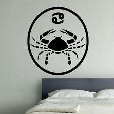 Cancer Medalion Zodiac Star Sign Decal Vinyl Wall Sticker Art Décor